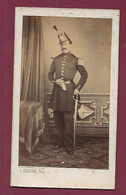211220 - PHOTO ANCIENNE CDV - Ernest BARREAU 1825 - 1877 Fils Angelique REGELSPERGER Militaire Soldat - Identified Persons