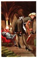 Illustrateur Carriere - Servante, Bien Heureux Est Celui Qui A Cave Bien Fraiche (774) - Carrière, Louis