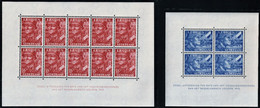 1942 Netherlands Dutch Legions Of The Waffen-SS Minisheets (** / MNH / UMM) - Unused Stamps