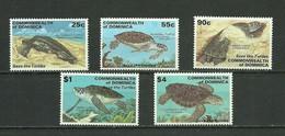 Dominica 1998 Turtles Set 5v Overprint MNH - Schildkröten