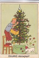 Postkaart Hergé, Kuifje, Gelukkig Nieuwjaar, Uitgeverij Casterman, Tintin  (pk75753) - Cómics