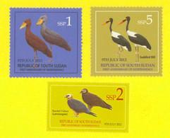 SOUTH SUDAN  1, 2 And 5 SSP Stamps. Storks, Vultures,  BIRDS ! Oiseaux = SOUDAN Du Sud = Südsudan - Other