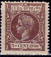 Spanish Cuba 1898, King Alfonso XIII, 3c, Sc#163, MH - Autres