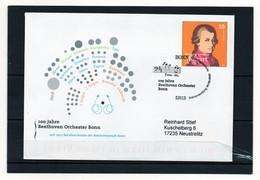 BRD, 2007, Ganzsache/Brief (echt Gelaufen) Mit Michel 2512, Erstverwendungsstempel, 100 J. Beethoven-Orchester Bonn - Briefomslagen - Gebruikt