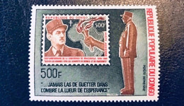 CONGO 1970 1 V Neuf ** Poste Aerienne Neuf ** Poste Aerienne PA 134 De Gaulle - Nuevas/fijasellos