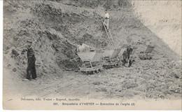 Rare Cpa Yvetot Briqueterie Extraction De L' Argile - Yvetot