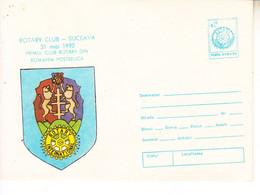 ROMANIA 1990: ROTARY CLUB Unused Prepaid Cover 172/1990 - Registered Shipping! - Interi Postali