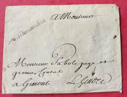 Tarn Et Garonne. Lettre Avec Marque De Montauban - 1701-1800: Précurseurs XVIII