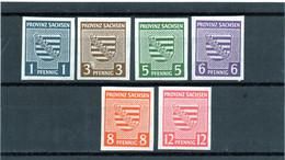 Alemania / Germany / Serie Completa Año 1945 Saxe Yvert Nr.1/6 Sindentar Nueva - Sachsen