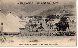 LA FRANCE AU MAROC ORIENTAL  DEBDOU LE CAMP DES SPAHIS-TBE-Circulée 1er Décembre 1916// Tampon: TROUPE DU MAROC ORIENTAL - Other Wars