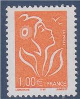 = Marianne De Lamouche ITVF 1.00€ Orange N° 3739 - 2004-08 Maríanne De Lamouche