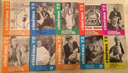 LOT ANNEE 1972 10 Revues CINEMA 72 - Cinéma/Télévision