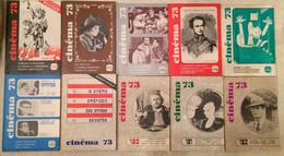 LOT ANNEE 1973 10 Revues CINEMA 73 - Cinéma/Télévision