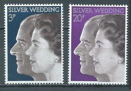Grande-Bretagne YT N°672/673 Noces D'argent Du Couple Royal Neuf ** - Unused Stamps