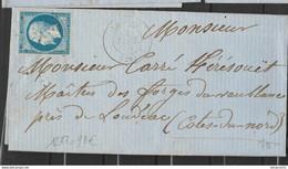 "TRARE CàD ""Le Faou"" LPC 1237 Sur N°14A Cote 90€ - 1853-1860 Napoleon III"