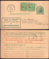 USA - 1938 - Letter - American Horseman, Lexington, Ky - To Buenos Aires, Argentina - A1RR2 - Covers & Documents