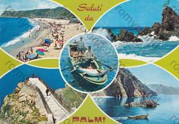 CARTOLINA PALMI, REGGIO CALABRIA, CALABRIA, ,ESTATE, SPIAGGIA ,MARE, SOLE, BARCHE A VELA VACANZE, VIAGGIATA 1996 - Reggio Calabria