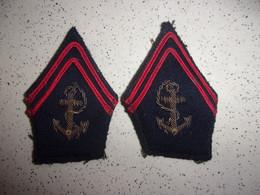 Ecussons De Col Ancien Des Troupes De Marine - Coloniale - Insigne - Patch - Uniformes