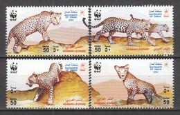 Oman 2004 Mi 590-593 MNH WWF - LEOPARD - Unused Stamps