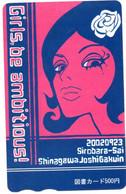 Girls Be Ambitious! Femme Peinture Carte Prépayée Japon Card (W 351) - Moda