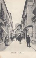 SIRACUSA-VIA ROMA-ANIMATA-CARTOLINA NON VIAGGIATA -1910-1920 - Siracusa