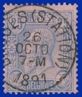 COB N° 48 - Belle Oblitération - BRUGES (STATION) - 1884-1891 Leopold II