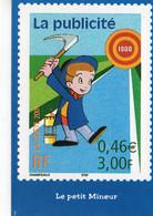 Timbres Publicité Le Petit Mineur Jean Mineur Publicité La Poste 2001 Champeaux - Stamps (pictures)