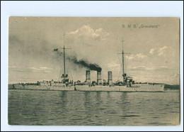 XX008968/ Kriegsschiff S.M.S. Graudenz + Schiffspost Nr. 200   1915 - Warships
