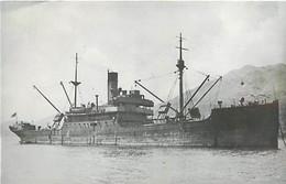 455 PHOTO BATEAU LE CHUNGKING DE 1914 . PREFIXE S.S DE 2172 T- FORLAT C.P.A N° B 455 - Schiffe