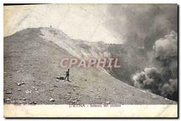 CPA Volcan L&#39Etna Interno Del Cratere - Catástrofes