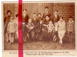 Orig. Knipsel Coupure Tijdschrift Magazine - Grobbendonk - Familie Smets X Van Laer  - 1930 - Unclassified