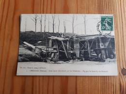 Carte Postale CHUIGNES (80) : Gros Canon Abandonné Par Les Allemands - Zonder Classificatie