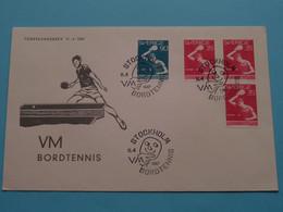 VM BORDTENNIS ( Stamp Stockholm 11-4-1967 ) ! - FDC
