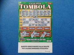 ITALIA BIGLIETTO LOTTERIA GRATTA E VINCI USATO € 5 LA SUPER TOMBOLA NEW LOTTO 3026 SERIE FF ITALY TICKET LOTTERY - Lottery Tickets