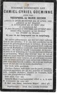 Goeminne C.c. (gesneuveld  -ingelmunster 1892 -eppegem 1914) - Religion & Esotérisme