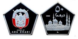 ABU DHABI 2020 ( EMIRATI ARABI) 50 DIRHAM  ZAYED MOSCHEA MONETA COLORATA NON UFFICIALE - Emiratos Arabes