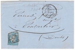 TIMBRES N° 60/1;  LETTRE  ; GRANDE CASSURE ;146 A2/  3 ème état  RARE TB - 1871-1875 Cérès
