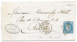 TIMBRES N° 60/1;  LETTRE  ; GRANDE CASSURE ;146 A2/  8 ème état  RARE TB - 1871-1875 Cérès