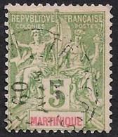 MARTINIQUE  1899  - Y&T  44 - Sage  - Oblitéré - Used Stamps