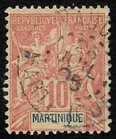 MARTINIQUE  1899  - Y&T  45 - Sage  - Oblitéré - Used Stamps