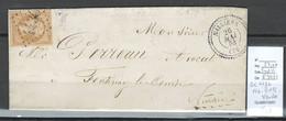 France - Lettre - GC 4436 - NAILLIERS En Vendée - Type 22 - 1864 - 1849-1876: Periodo Clásico