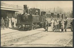 Ancienne Reproduction D'une CPA - Neufmanil - La Gare Le Train - Bien Lire Descriptif Et Voir 2 Scans Larges - Otros Municipios