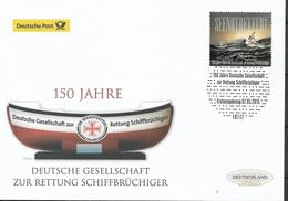 2015 Germany  Deutschland Mi. 3153 FDC 150 Jahre Deutsche Gesellschaft Zur Rettung Schiffbrüchiger - FDC: Brieven