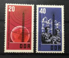 (887) DDR 1965 : Sc# 769-770 RADIO TOWER BROADCASTING EQUIPMENT - MNH VF - Ongebruikt