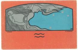 Henri MEUNIER - Femme Art Nouveau (Zodiaque) Janvier - Le Verseau  (5290 ASO) - Otros Ilustradores