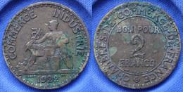 FRANCE - 2 Francs 1922 KM# 877 III Republic (1871-1940) - Edelweiss Coins - Non Classificati
