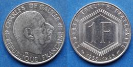 "FRANCE - 1 Franc 1988 ""30th Anniversary Of Fifth Republic"" KM# 963 Fifth Republic  (1959-2001) - Edelweiss Coins - Non Classificati"