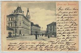 Gruss Aus PROSSNITZ - Prostějov - Proßnitz - Postgebäude Und Spurni'sche Häuser - República Checa