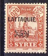FRANCE ( LATTAQUIE ) : Y&T  N°  21  TIMBRE  NEUF  AVEC  TRACE  DE  CHARNIERE , A  VOIR  . B 30 - Neufs
