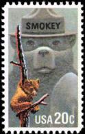 1984 USA Smokey Bear Stamp Sc#2096 Mascot Forest Fire Hat - Polucion